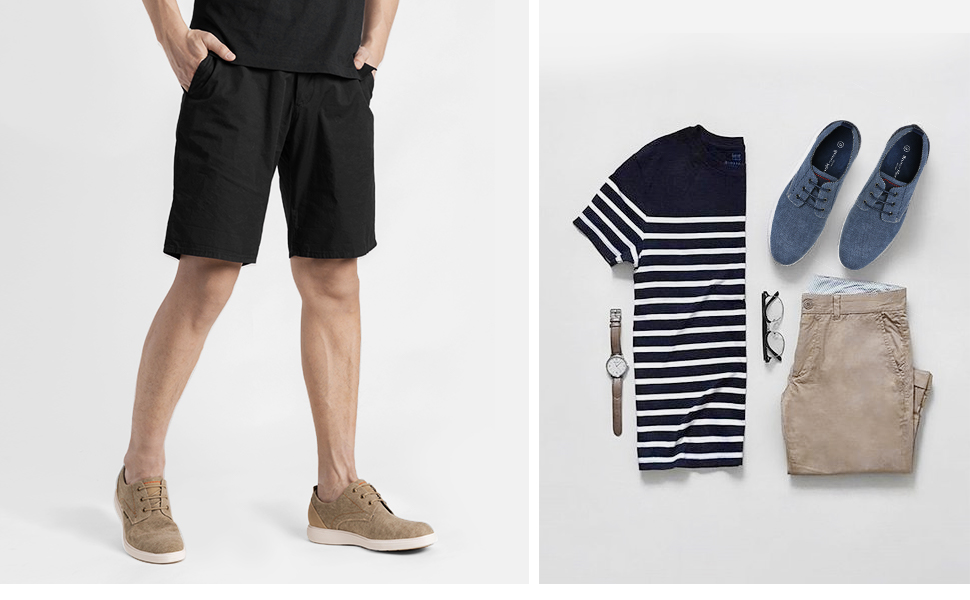 Features stylish canvas upper and classic business-casual style