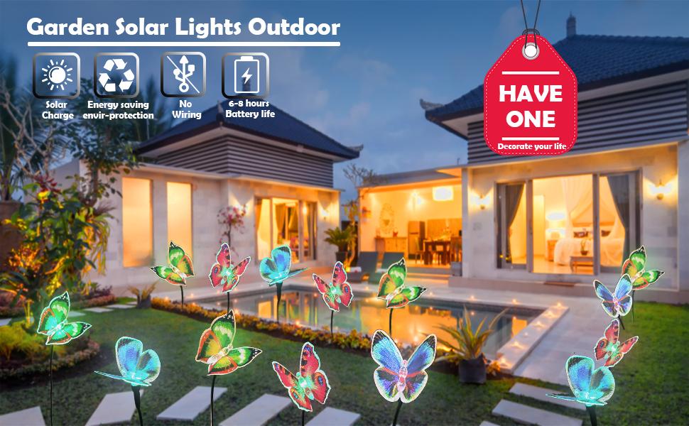 solar butterfly lights