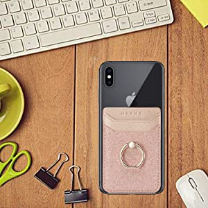 Phone card holder with ring
