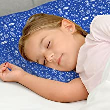 Toddler Pillow With Pillow Case-13X18 Soft Organic Cotton Pillow For Sleeping-Perfect For Travel