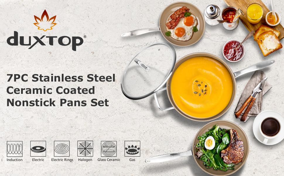 ceramic coated nonstick pan set
