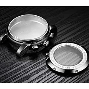 olevs full stainless steel automatic watch case men
