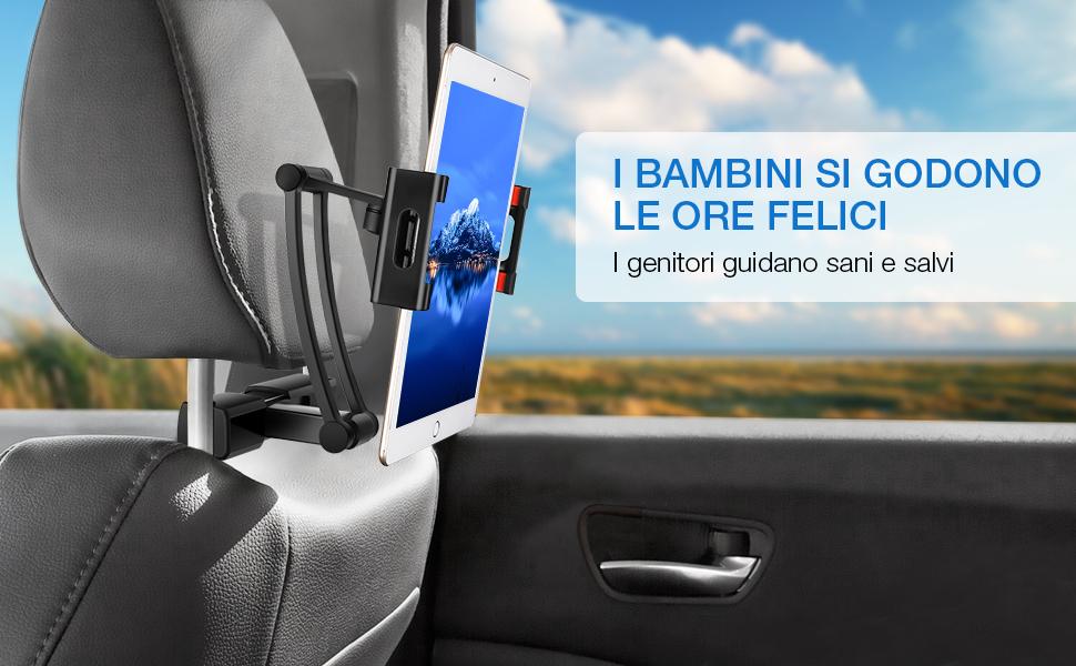 SAWAKE Supporto Tablet Auto Poggiatesta