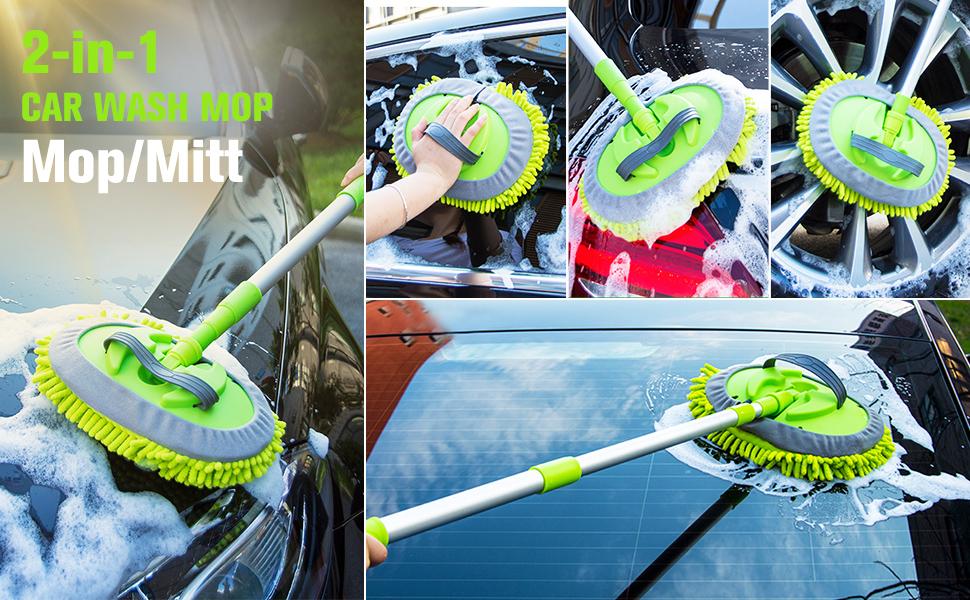 car wash microfiber mop