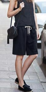 Knee Length Shorts Soft Knit Shorts Curly Shorts Skirt Shorts Cotton Curly Shorts Cotton Shorts