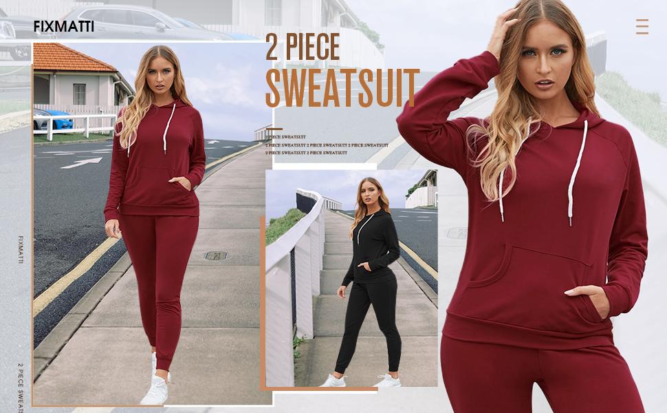 women sweatsuits hoodie shirts sweatpants jogger set tracksuit 2pcs