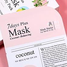 K-beauty mask pack