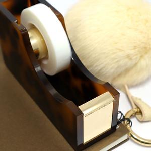 tortoise gold stapler tape dispenser pen cup desk accessories organization
