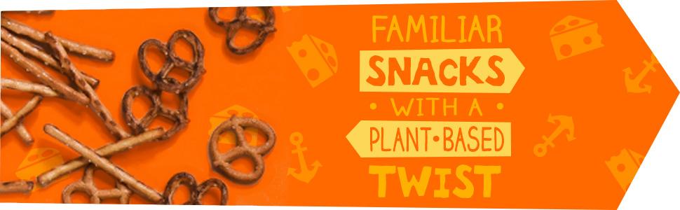 Familiar Snacks with a Plant-Based Twist butternut squash pretzels