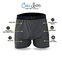 Mens performance boxers relaxed fit cool boxer shorts for men