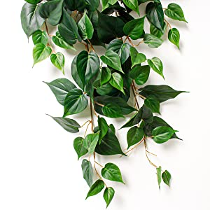 artificial hanging plants green vine plant rattan for home wall decoration