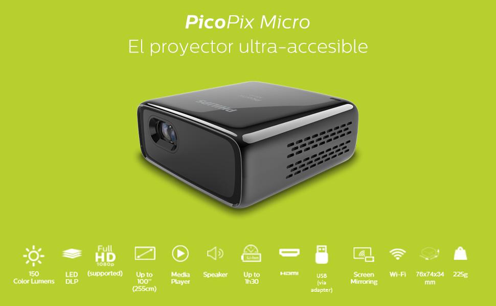 Philips PicoPix Pocket Projector Micro PPX320, LED, 150 CLO ...