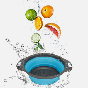 collapsible strainer colander