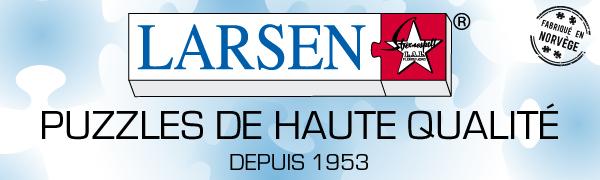 Puzzles pour enfants Larsen de haute qualité depuis 1953 - fabriqués en Norvège