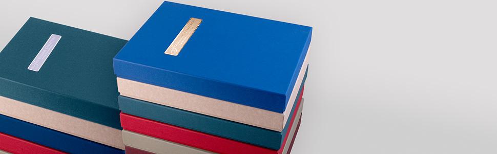 Visual of congratulations card assortment boxes.