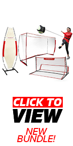 Powernet 8x4 soccer net with rebounder for passing and a defender for real life game simulation.