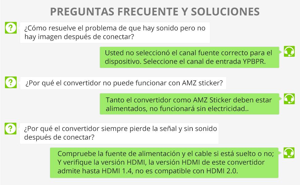 HDMI a YPbPr Conversor 720p 1080p HDMI a YPbPr Macho Componente Video 5RCA RGB Convertidor HDMI a Componentes con 5 Salidas RCA R/L para PS2 PS3 STB ...