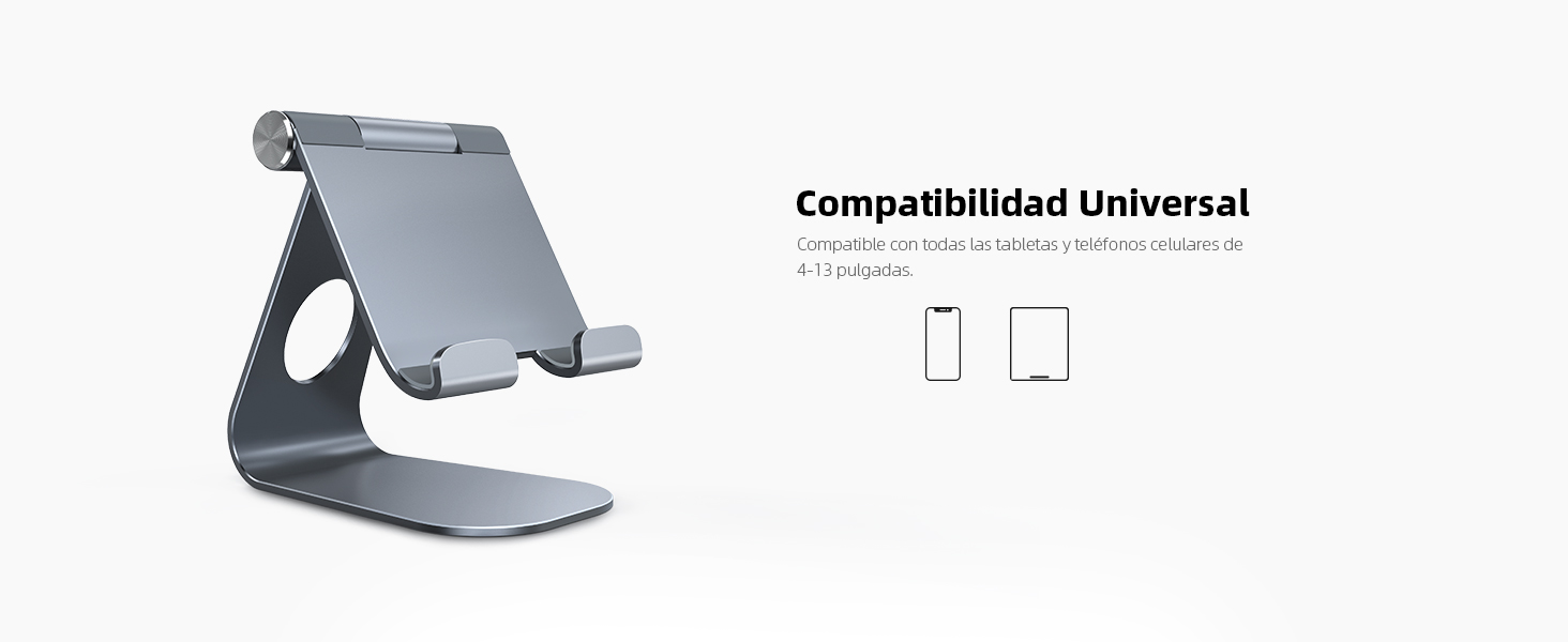 Soporte Tablet, Lamicall Multiángulo Soporte Tablet : Soporte Ajustable para Tablets para Pad 2020 Pro 10.5 / 9.7 / 12.9, Pad mini 2 3 4, Pad Air, Air 2, Samsung Tab, Otras Tablets - Gris: Amazon.es: Informática