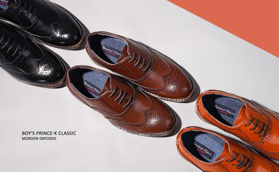 Bruno Marc Boy's Prince-K Classic Oxfords Dress Shoes