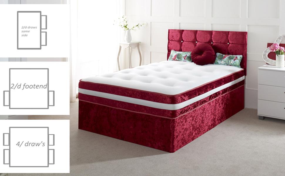 SUEDE DIVAN BED