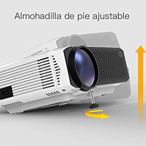Proyector, APEMAN Mini Proyector Portátil en Casa, Soporte HD ...