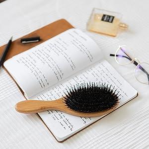 wooden brush boar hair brush felicia leatherwood detangling brush olivia garden hair brushes