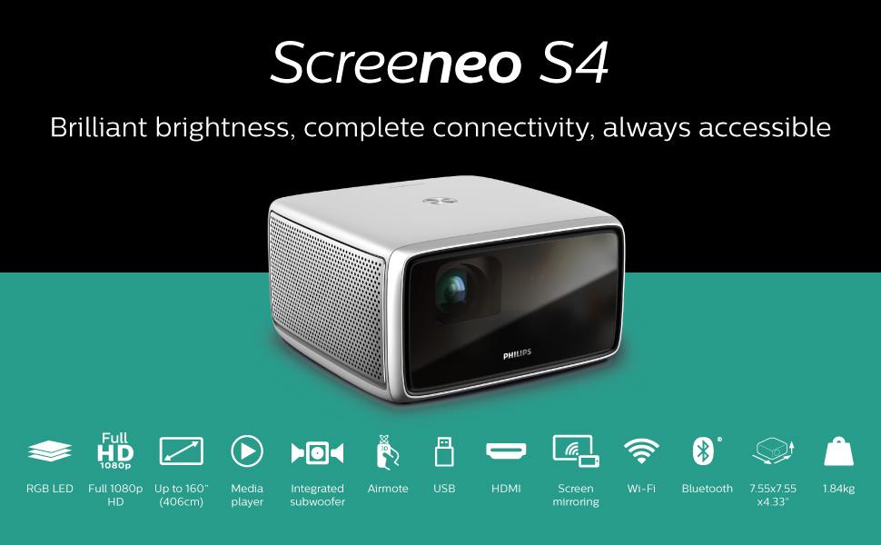 Screeneo S4, Mobile Projector, Philips Projection, Screeneo