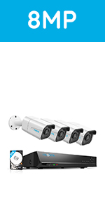 RLK8-800B4 4K Security Camera System