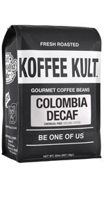 Koffee Kult Colombian Decaf Whole Bean Coffee Beans 100% Arabica Beans