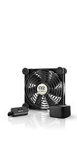 AC Infinity MULTIFAN S3-P Quiet 120mm AC-Powered Fan Receiver DVR Playstation Xbox Component Cooling