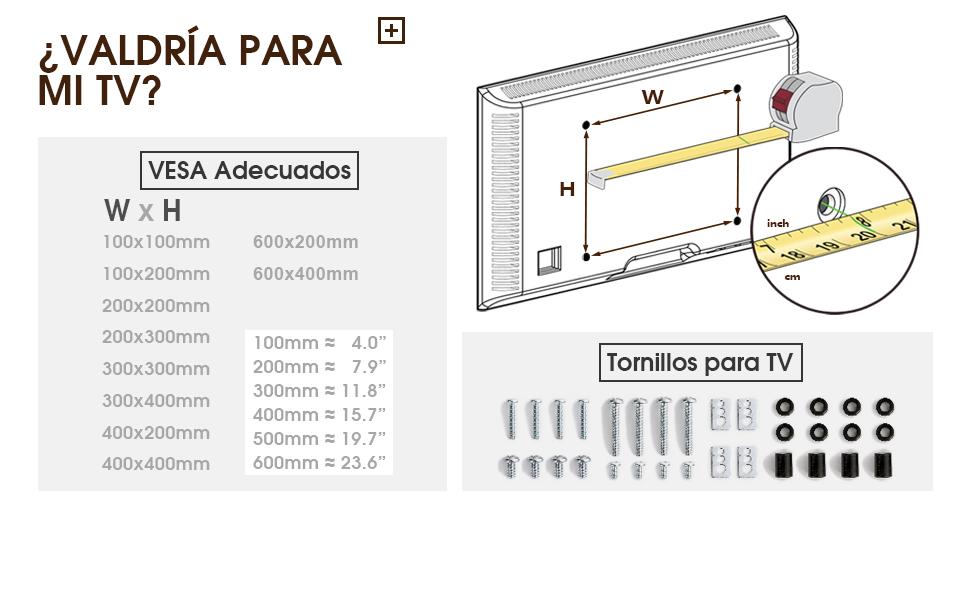 RFIVER Soporte TV de Suelo para Television de 32 a 65 Pulgadas con 3 Estante TW1002: Amazon.es: Electrónica