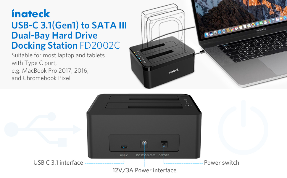 USB C Hard drive docking station