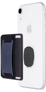card case holder wallet slot cell phone iphone mount hold grip strap silicone stand wireless charger