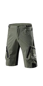 Shorts de Cyclisme pour Homme VTT Pantalon de Cyclisme Court Baggy Amples Imperméable Respirant pour