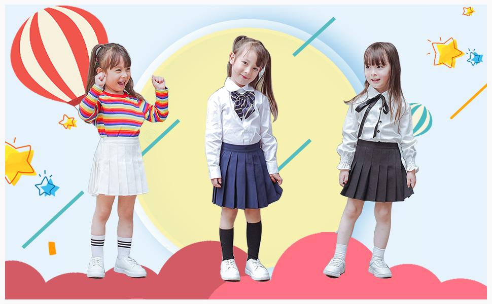 Little Big Girls' Kid Pleated Mini Short Skort School Dresses Tennis Scooters Skirts
