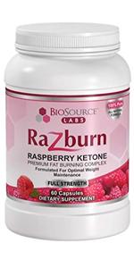 BIOSOURCE razburn raspberry ketones