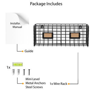 package wire rack mini level installation manual wall mail holder wall mount file organizer