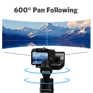 3-Axis Gimbal Stabilizer for GoPro 8 Action Camera Handheld Gimbal Tripod Mount