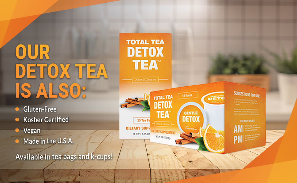 total tea detox tea kcup and tea bag