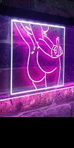 ADVPRO Bad Bitch sexy woman Fxxk middle finger rebel neon sign home bedroom decoration spirit light