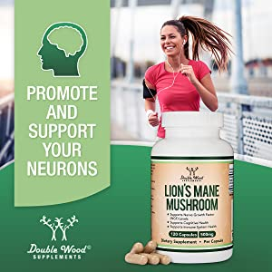 grow and protect your neurons with lions mane double wood