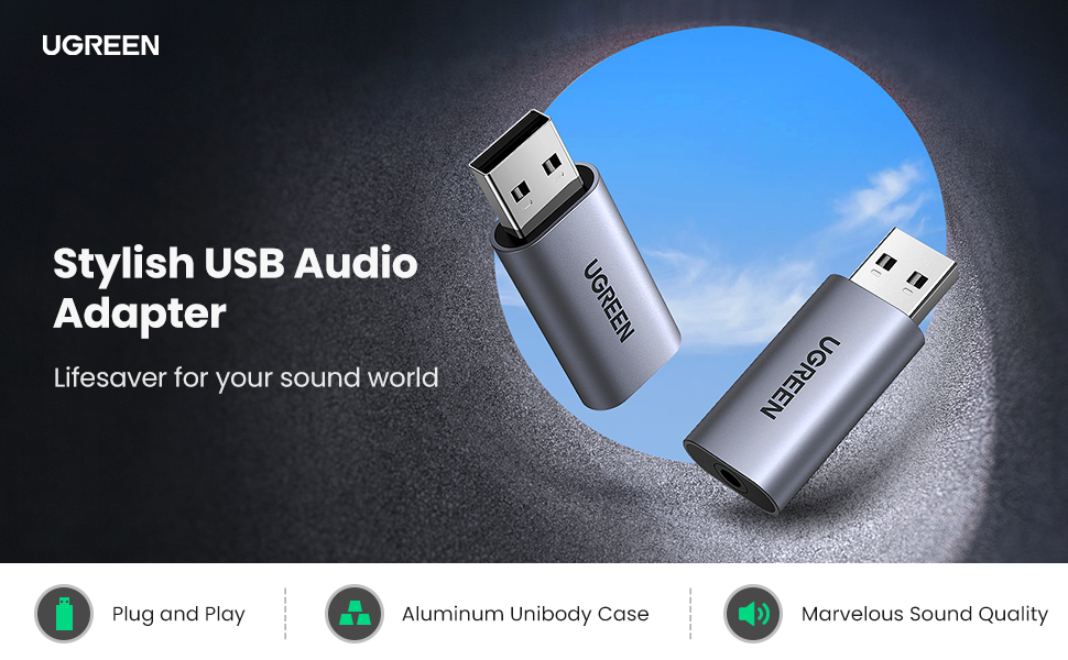 USB External Sound Card Audio Adapter