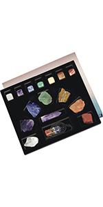 Chakra Starter Kit Crystal Healing Set for Reiki Balancing Meditation