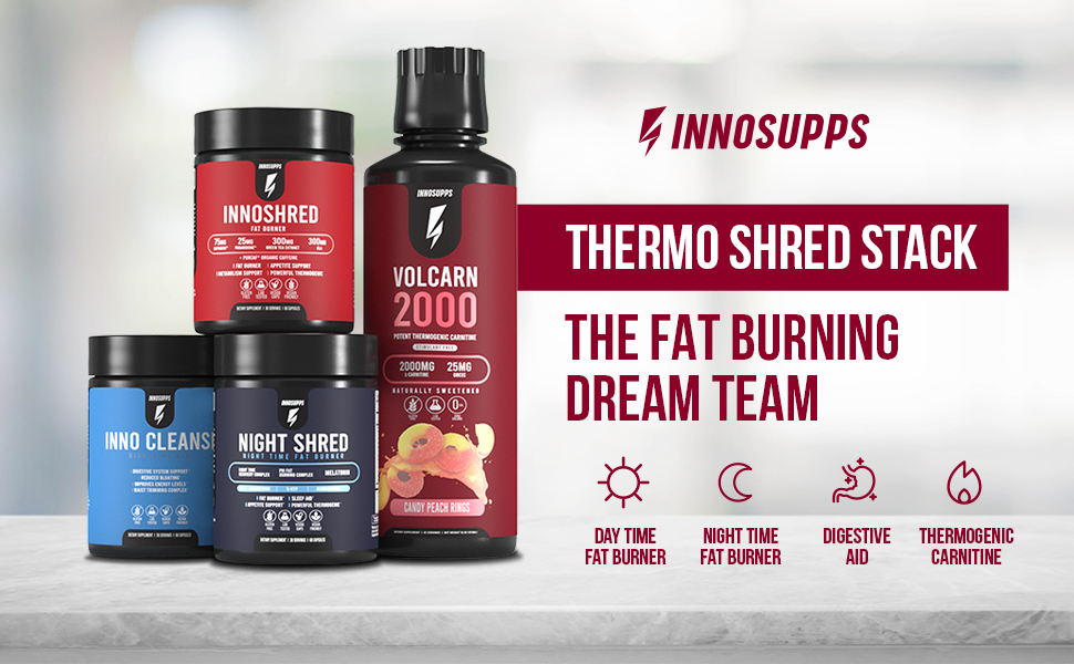 innosupps l-carnitine night time fat burner digestive aid weight loss for male and female