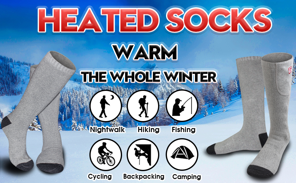heated socks electric rechargeable battery operated warming socks