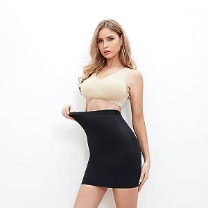 Half Slips for Under Dresses Women Tummy Control Seamless Slip Slimming Shapewear