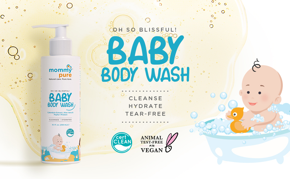Baby Body Wash, Natural Baby Body Wash, Organic Baby Wash, Gentle Baby Cleanser, Baby Wash
