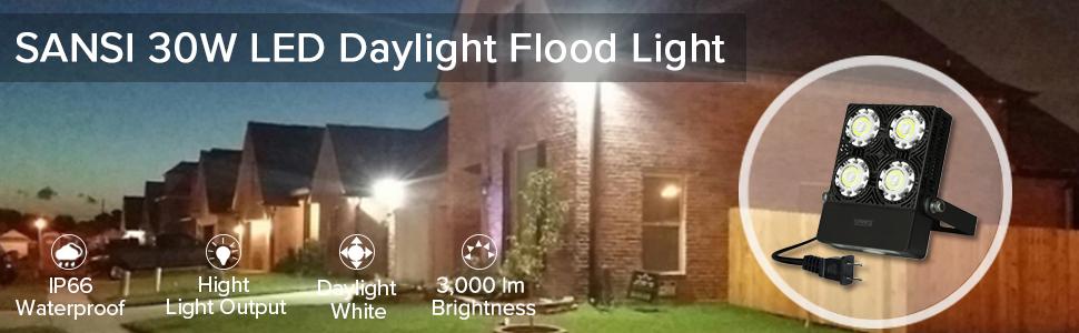 SANSI 30W LED flood light