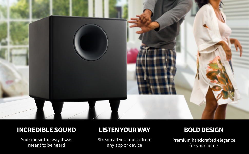 powered subwoofer, small subwoofer, small sub, black subwoofer, white subwoofer, best subwoofer, sub