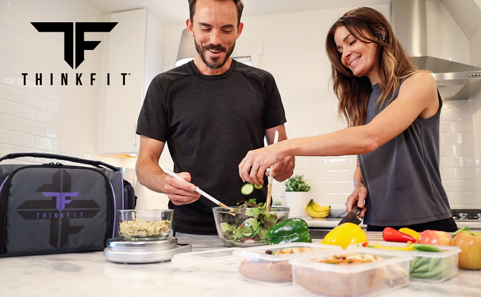 ThinkFit Meal Prep Lunch Bags and Portion Control Mealprep Containers